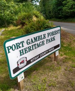 Port Gamble Forest Heritage Park sign